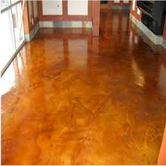 Stained Concrete Floor Installation