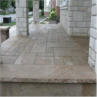 Stamped Concrete Porch Installation